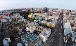 Aerial view of the historic center of Kiev Stock Photography