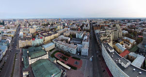 Aerial view of the historic center of Kiev Royalty Free Stock Photo
