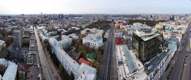 Aerial view of the historic center of Kiev Royalty Free Stock Photography