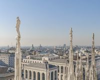 Aerial View Milan City, Italy stock images