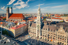 Aerial view on the historic center of Munchen Royalty Free Stock Photography