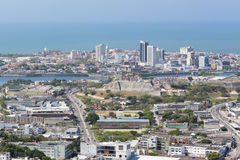 Aerial view of historic city of  Cartagena in Colombia Stock Photos