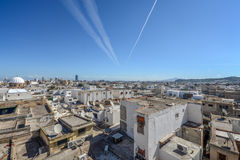 The aerial view of historic city of Tunis Stock Image