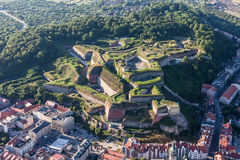 Aerial view of the  historic fortress in Klodzko city Royalty Free Stock Photo