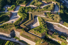 Aerial view of the  historic fortress in Klodzko city Royalty Free Stock Photography