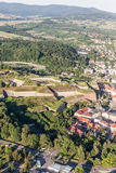 Aerial view of the  historic fortress in Klodzko city Stock Images