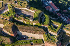 Aerial view of the  historic fortress in Klodzko city Royalty Free Stock Image
