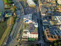 Aerial view historic French Quarter in New Orleans, Louisiana, U royalty free stock photography