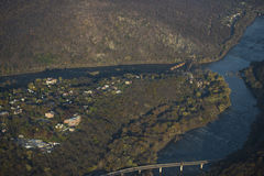 Aerial View of Harper's Ferry Stock Photo