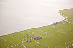 Aerial view of historic Marken island Stock Photo