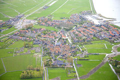 Aerial view of historic Marken island Royalty Free Stock Photos