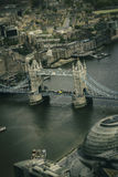 Aerial view of the historic Tower of London Royalty Free Stock Photography