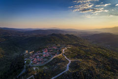 Aerial view of the historic village of Sortelha in Portugal. Concept for travel in Portugal royalty free stock photography