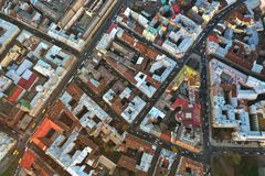 Aerial view of the historical center of Lviv, Ukraine. UNESCO`s royalty free stock photos