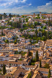 Aerial View of the historical city of Granada, Spain Royalty Free Stock Photography