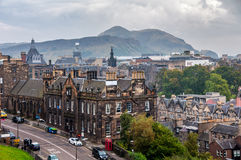 Aerial view of historical part in Edinburgh Stock Photo