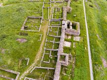 Aerial view of Histria old fortress in Dobrogea Constanta Romani. A Royalty Free Stock Images