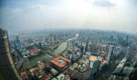 Aerial view of Ho Chi Minh City Royalty Free Stock Photography