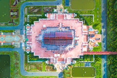 Aerial view of Ho kham luang traditional thai architecture in th Royalty Free Stock Images