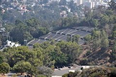 Hollywood Bowl. Aerial view of the Hollywood Bowl stock photography