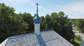Aerial view of Holy Trinity-Danilov mens monastery in Pereslavl- Stock Photo
