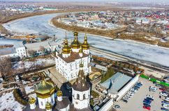 Aerial view on Holy Trinity Monastery Stock Image