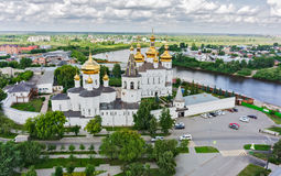 Aerial view on Holy Trinity Monastery. Tyumen Royalty Free Stock Images