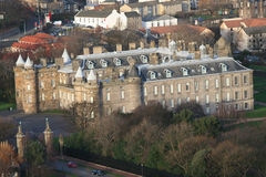 Aerial view of Holyrood Palace Stock Photo