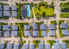 Aerial view of home village Royalty Free Stock Photos