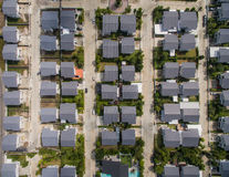 Aerial view of home village Royalty Free Stock Photography
