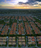 Aerial view of home village in thailand use for land development Stock Images