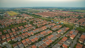 Aerial view of home village in thailand use for land development Royalty Free Stock Images
