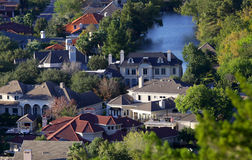 Aerial view of homes Royalty Free Stock Photo