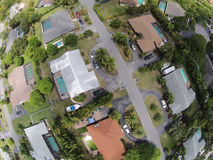 Aerial view of homes in Florida Royalty Free Stock Image