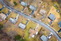 Aerial View of Homes in New Jersey royalty free stock photography