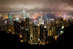 Aerial view of Hong Kong Royalty Free Stock Photo