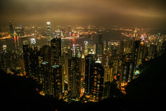 Aerial view of Hong Kong, China, Asia Royalty Free Stock Photos