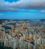 Aerial view of Hong Kong City Stock Images