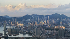 Aerial view of Hong Kong City Stock Photography