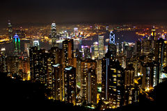 Aerial view of the Hong Kong Stock Photography