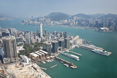 Aerial view of Hong Kong Stock Images