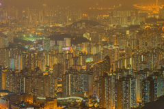 Aerial view of Hong Kong skyline Royalty Free Stock Photography