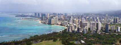 Aerial view of Honolulu city, Oahu Stock Images
