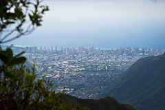 Aerial view of Honolulu, Hawaii Stock Photo