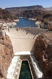 Aerial view of Hoover Dam Royalty Free Stock Images