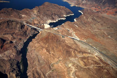 Aerial view of Hoover Dam Royalty Free Stock Image