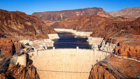 Aerial View of Hoover Dam Stock Photo