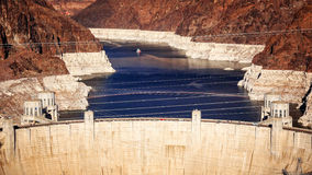 Aerial View of Hoover Dam and Lake Mead Royalty Free Stock Photography