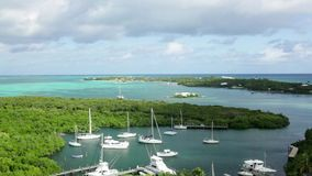 Aerial view of Hopetown, Bahamas stock video