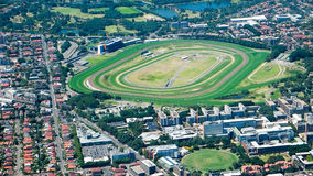 Aerial view of horse racing track Royalty Free Stock Image